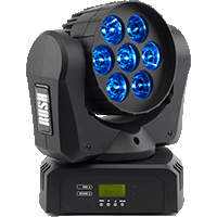 CABEZA MOVIL WASH LED RUSH MH2